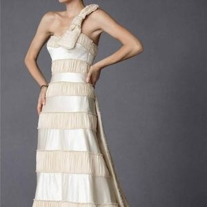 BHLDN Anthropologie Crescendo Silk Wedding Gown